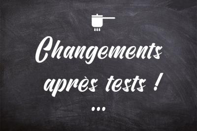 Du changement après les premiers test !